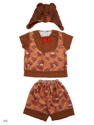 Карнавальный костюм Медвежонок Михасик Батик. Цвет: коричневый