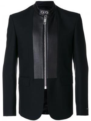 Пиджак с панельным дизайном на молнии Les Hommes. Цвет: чёрный