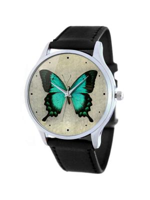 Дизайнерские часы Vintage Butterfly Tina Bolotina. Цвет: бирюзовый, светло-серый