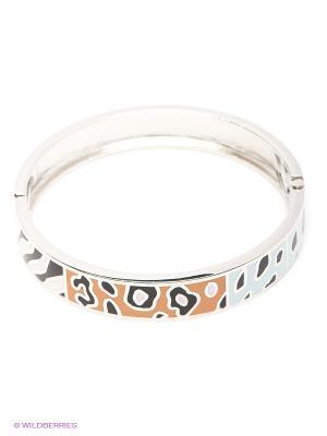 Браслет Lovely Jewelry. Цвет: серебристый, оранжевый, светло-голубой