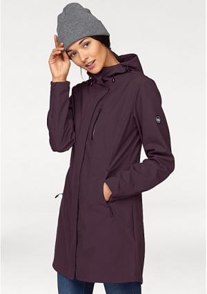 Короткое пальто POLARINO. Цвет: цвет баклажана