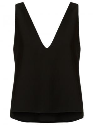Блузка с V-образным вырезом Giuliana Romanno. Цвет: чёрный
