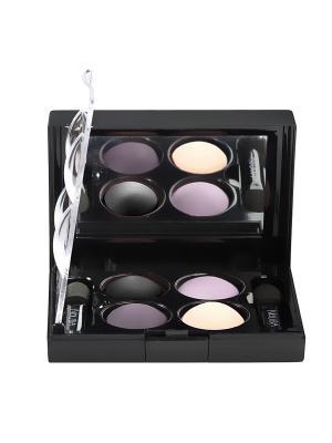 Тени для век КватроQuattro Eyeshadow Mat 644, 2,4г NOUBA. Цвет: белый, черный, сиреневый