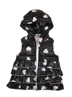 Жилетка babyAngel. Цвет: черный, белый