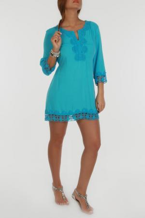 Платье Zer otantik. Цвет: синий