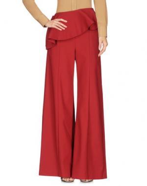 Повседневные брюки ROSIE ASSOULIN. Цвет: кирпично-красный