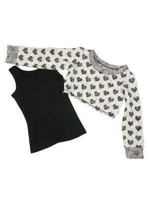 Комплект одежды babyAngel. Цвет: молочный, черный
