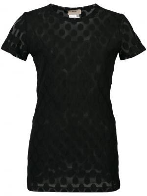 Блузка в горох Fuzzi. Цвет: чёрный