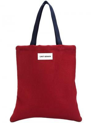 Сумка-шоппер Umit Benan. Цвет: красный