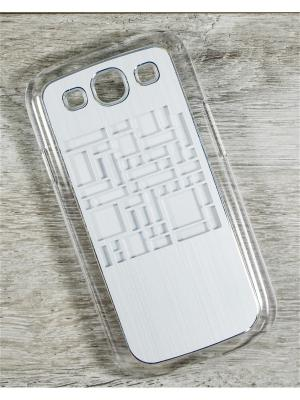 Чехол для телефона Samsung Galaxy S3 GT-I9300/GT-I9300I MACAR. Цвет: серебристый