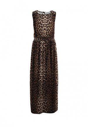 Платье Amplebox. Цвет: коричневый