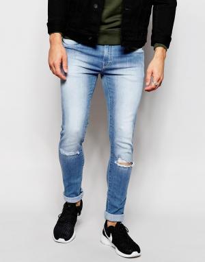 Loyalty & Faith Светлые рваные джинсы с напылением