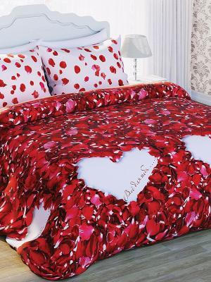 Комплект постельного белья Любимый Дом. Цвет: белый, красный