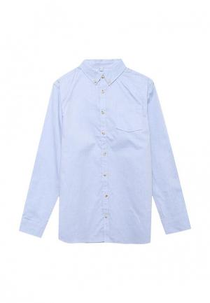 Рубашка Marks & Spencer. Цвет: голубой