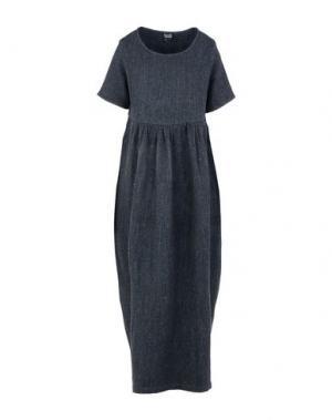 Длинное платье NEERU KUMAR. Цвет: стальной серый