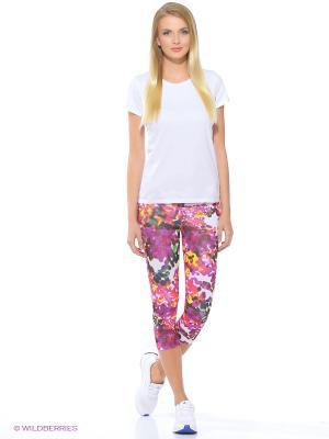 Бриджи Sn Q2 3/4 Tgt W Adidas. Цвет: белый, синий, розовый, желтый