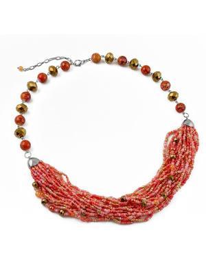 Ожерелье FOXTROT. Цвет: коралловый