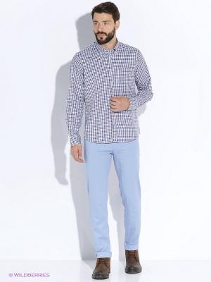 Рубашка Forecast. Цвет: голубой, белый, красный