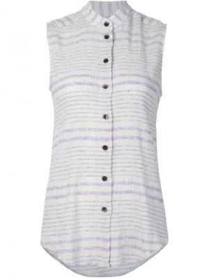 Полосатая рубашка без рукавов Rachel Comey. Цвет: белый