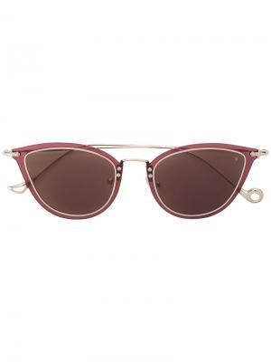 Солнцезащитные очки в оправе кошачий глаз Eyepetizer. Цвет: розовый и фиолетовый