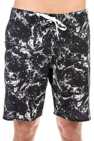 Шорты пляжные DC Crutchfield 20 Black Storm Print Shoes. Цвет: черный,белый