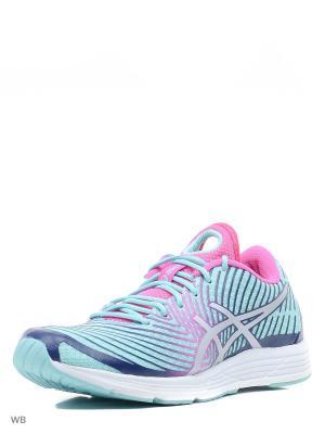 Спортивная обувь GEL-HYPER TRI 3 ASICS. Цвет: голубой, розовый, синий