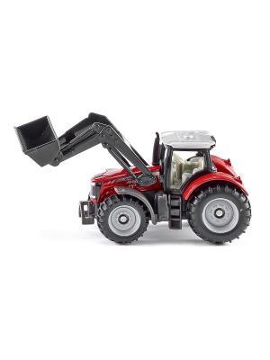 Трактор Massey Ferguson с фронт.погрузчиком SIKU. Цвет: черный, красный