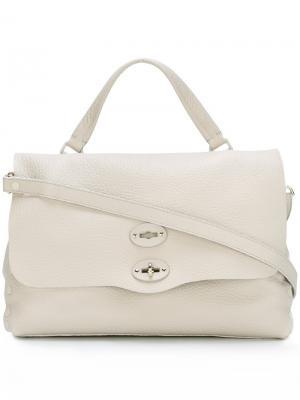 Средняя сумка-тоут Postina Zanellato. Цвет: телесный