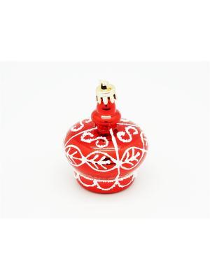 Украшение подвесное из пластика Корона красная арт.16021  (ДШВ 0,05Х0,2Х0,05 м.) Яркий Праздник. Цвет: красный