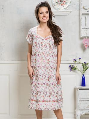Сорочка MIA-MELLA. Цвет: молочный