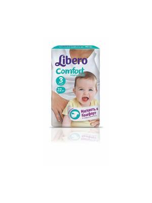 Libero Подгузники детские Комфорт миди 4-9кг 22шт упаковка маленькая. Цвет: белый