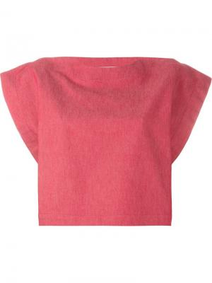 Укороченная блузка Martine Jarlgaard. Цвет: красный