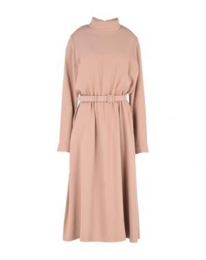 Платье длиной 3/4 ALEXANDER TEREKHOV. Цвет: песочный