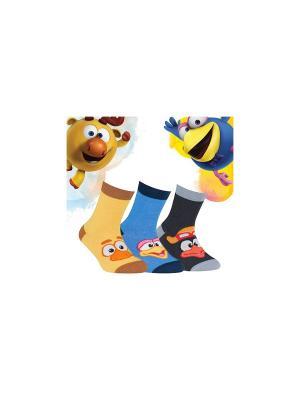 Носки Смешарики Conte Kids. Цвет: желтый, серый, голубой