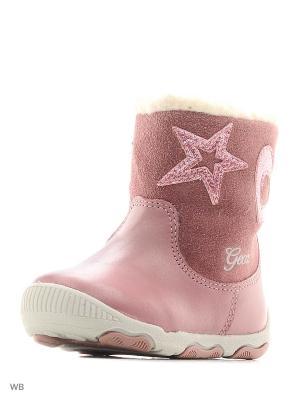 Полусапожки GEOX. Цвет: бледно-розовый, розовый