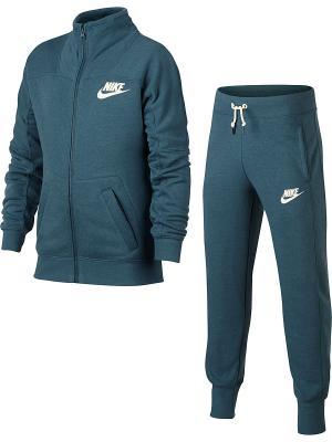 Костюм G NSW TRK SUIT FT Nike. Цвет: зеленый