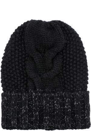 Кашемировая шапка фактурной вязки Kashja` Cashmere. Цвет: черный