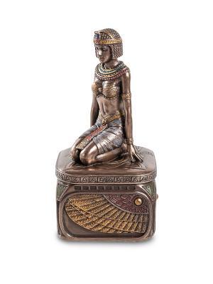 Шкатулка в стиле Ар-деко Египтянка Veronese. Цвет: бронзовый