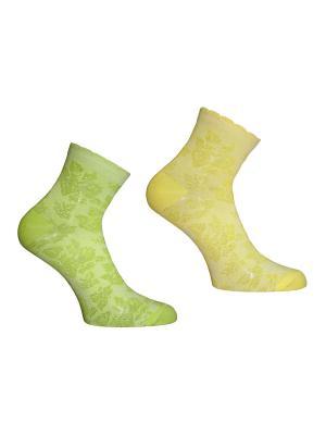 Носки 2 пары Master Socks. Цвет: желтый, салатовый