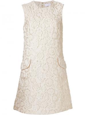 Платье с жаккардовым цветочным узором Co. Цвет: белый