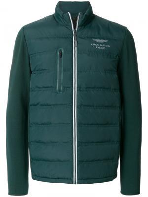 Стеганая куртка Aston Martin Hackett. Цвет: зелёный