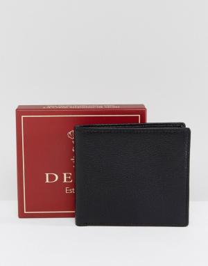 Dents Черный кожаный бумажник. Цвет: черный