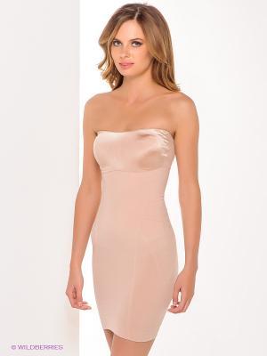 Платье Spanx. Цвет: бежевый
