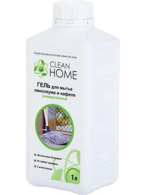 Гель для мытья линолеума и кафеля универсальный, 1 л. CLEAN HOME. Цвет: прозрачный