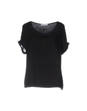 Блузка SILK AND CASHMERE. Цвет: черный