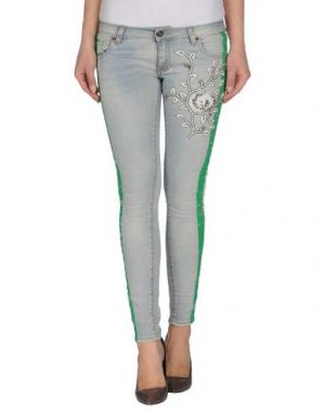 Джинсовые брюки 28.5. Цвет: синий