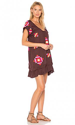 Платье amaynu All Things Mochi. Цвет: вишня