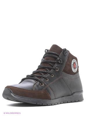 Ботинки GassA. Цвет: черный, коричневый