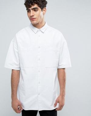 Dr Denim Белая рубашка Felix. Цвет: белый