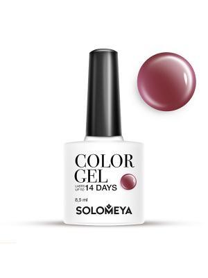 Гель-лак Color Gel Тон Puce SCG065/Красновато-коричневый SOLOMEYA. Цвет: светло-коричневый